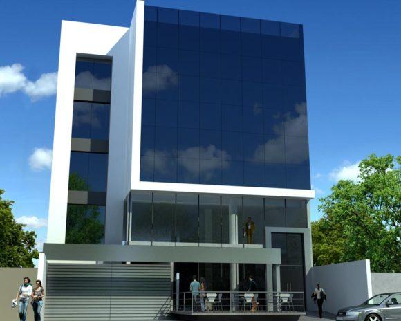 3D Anteproyecto Edificio Comercial Render
