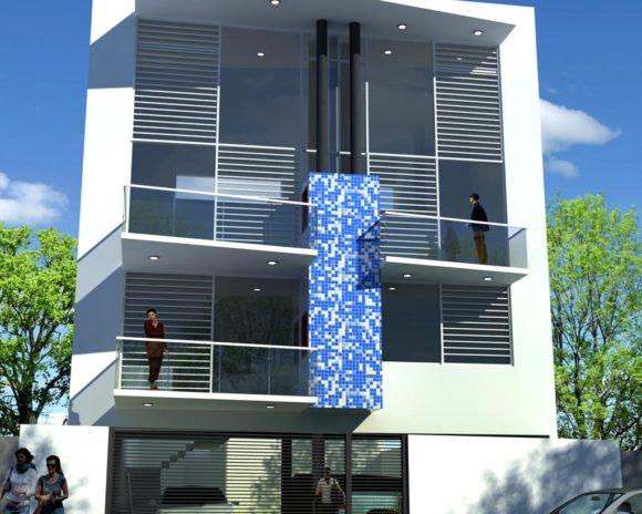 3D Anteproyecto Edificio Departamentos Render