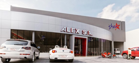 3D Render Fachada Showroom Alex SA Rener