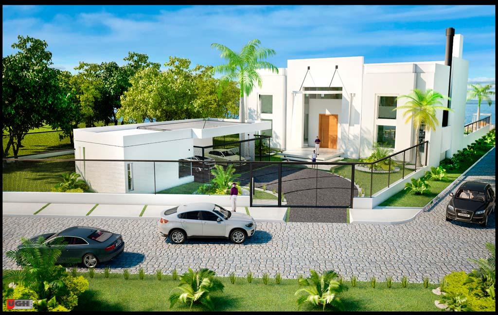 3d casa minimalista de playa render for Render casa minimalista