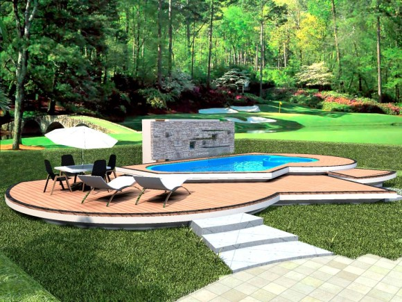 3d dise o de piscina para vivienda unifamiliar render for Construccion de piscinas en paraguay