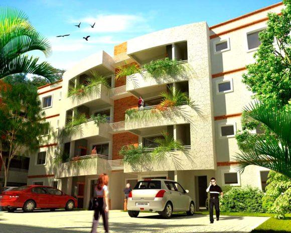 3D Edificios de Departamentos en Condominio Render