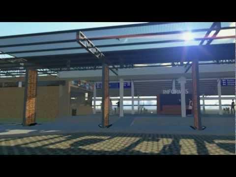 3D Animación Terminal de Omnibus Misiones Render