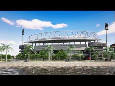 3D Animación Estadio Liga Encarnacena de Futbol HD + Nocturna Render