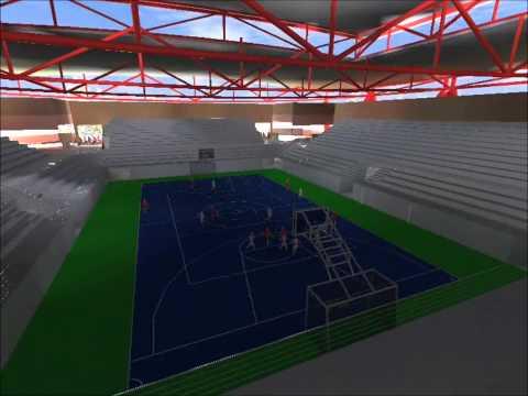 3D Animación Complejo Deportivo Santa Rita Render