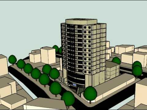 3D Animación Edificio Corporativo y Habitacional