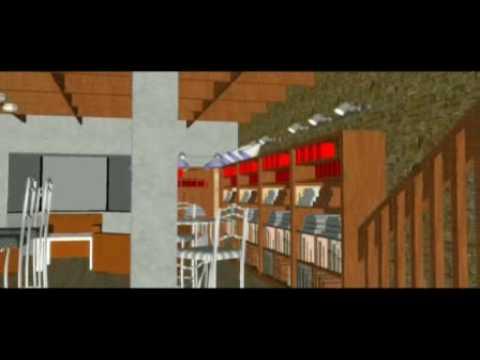 3D Animación Café Literario