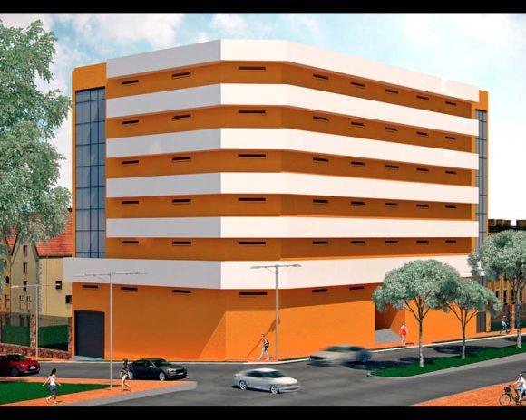 3D Edificio para Oficinas y depositos en Ciudad del Este.