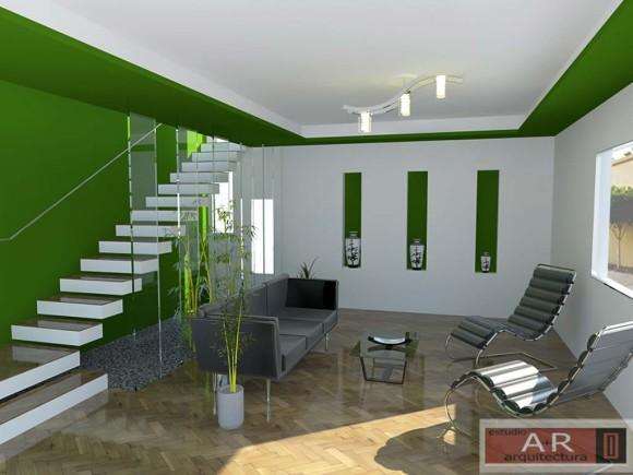3d dise o interior sala de estar vivienda reforma for Software diseno interiores