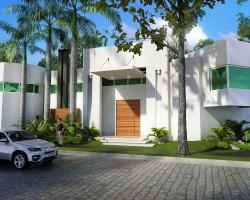 3d residencia minimalista render for Render casa minimalista