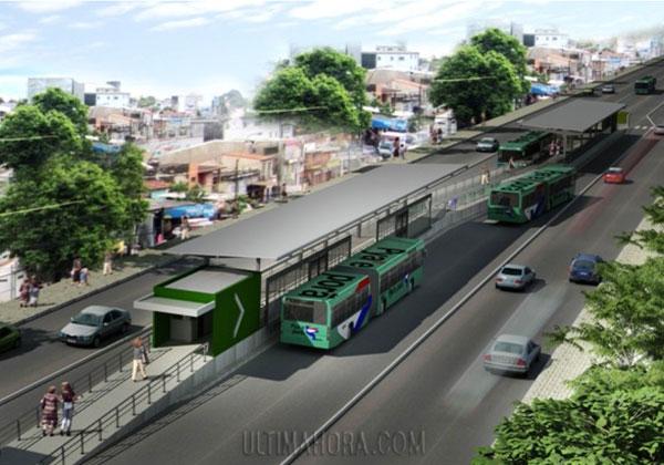 El sistema de transporte metrobús funcionará a finales de 2014 si en