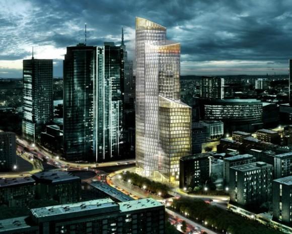 Torre Ecológica en Varsovia Schmidt Hammer Lassen Architects