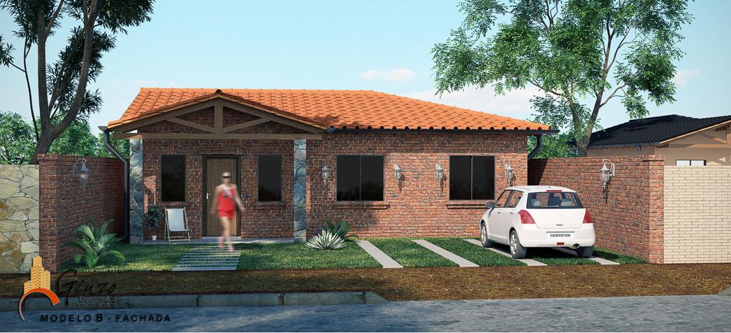 3d viviendas econ micas render for Fachadas de casas bonitas y economicas
