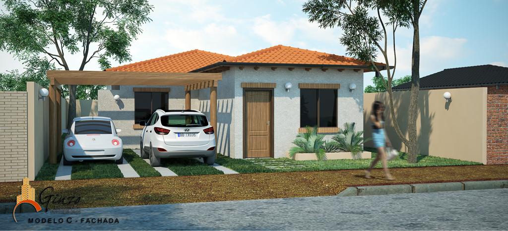 3d viviendas econ micas render for Construccion de piscinas economicas