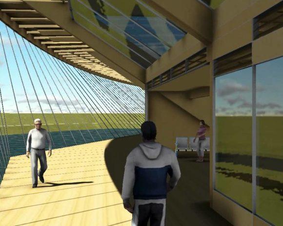 3D Animación Edificio Empresarial en La Costa Render