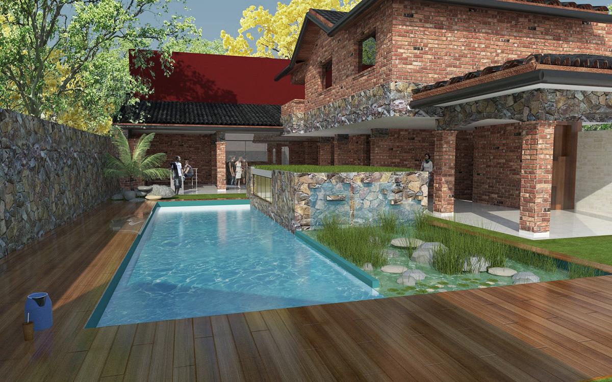 3d reforma de vivienda ampliaci n de piscina y for Software diseno piscinas