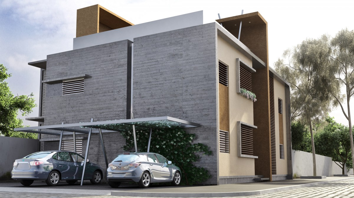 3d edificio departamentos render for Exterior edificios