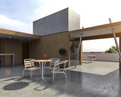 render Edificio departamentos vista terraza