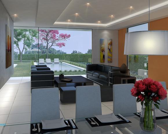 Interior Vivienda para el Paraná Country Club