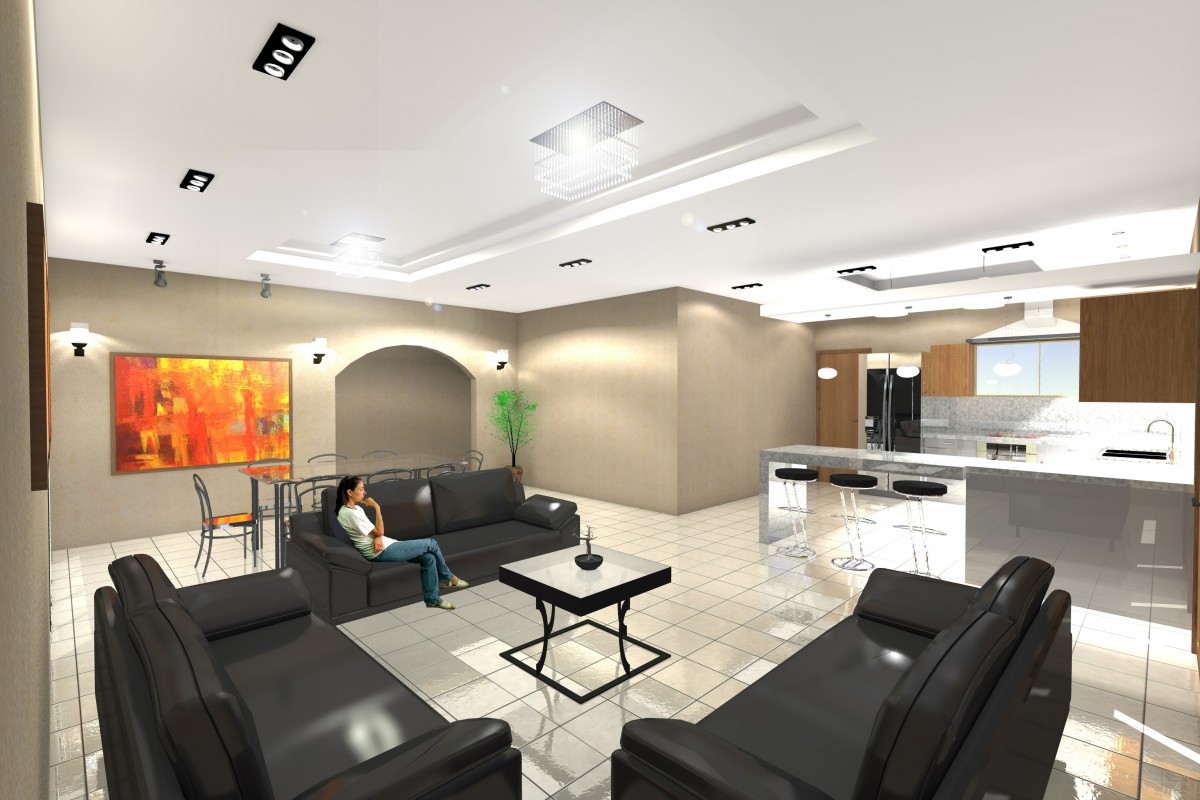 3d Dise O Interior Vivienda En Santa Rita Render