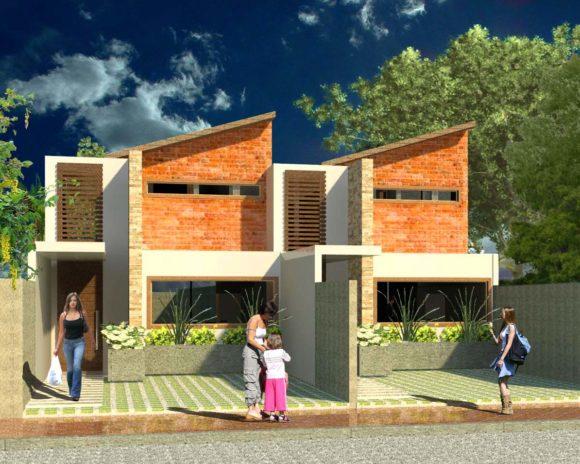3D Vivienda Unifamiliar Duplex Render