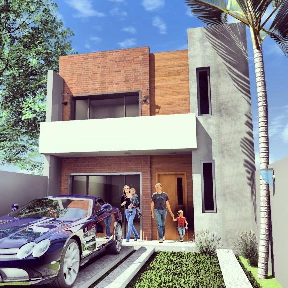 3d viviendas en duplex de 120 m2 render paraguay galer a social de - Precio proyecto casa 120 m2 ...