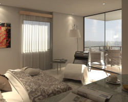 3D Diseño Interior de Departamentos Edificio La Esperanza II Render