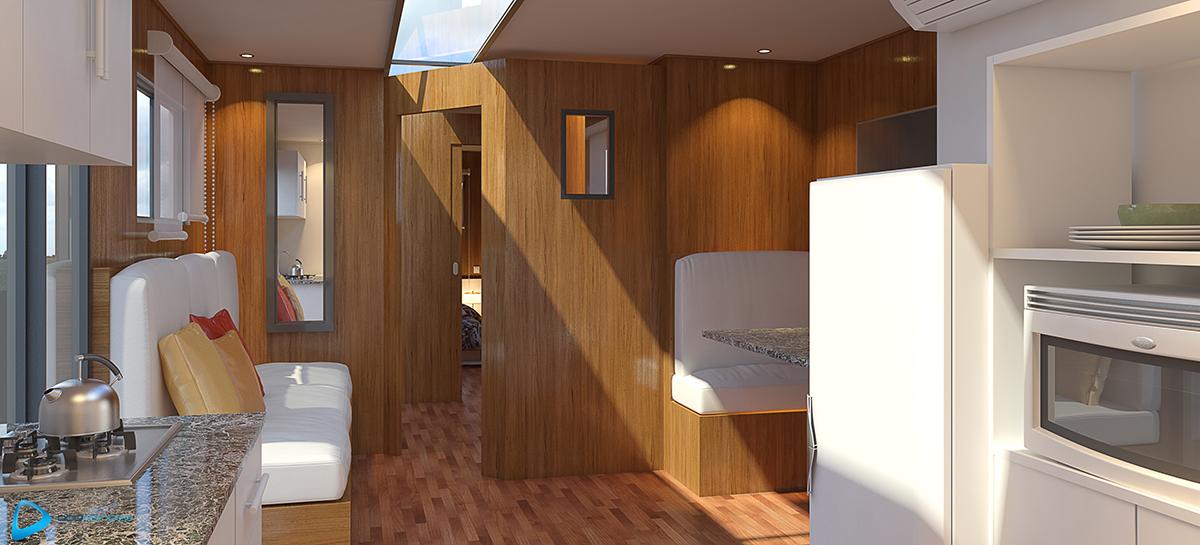 3d Dise O Interior De Container Render