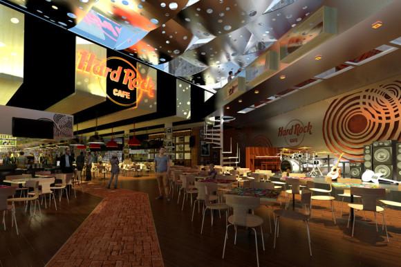 interior-entrada Hard Rock Café Asunción