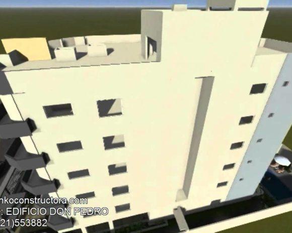 3D Animación Edificio Multifamiliar Don Pedro Render
