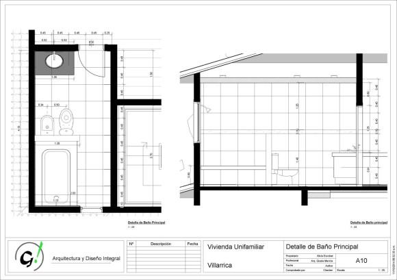 Vivienda Villarrica-Sady-DiseñoInterior - Sheet - A10 - Detalle de Baño Principal