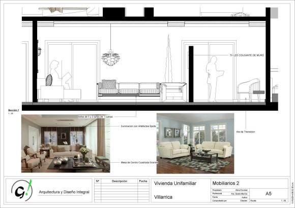 Vivienda Villarrica-Sady-DiseñoInterior - Sheet - A5 - Mobiliarios 2