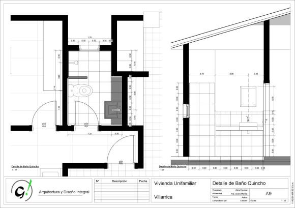 Vivienda Villarrica-Sady-DiseñoInterior - Sheet - A9 - Detalle de Baño Quincho