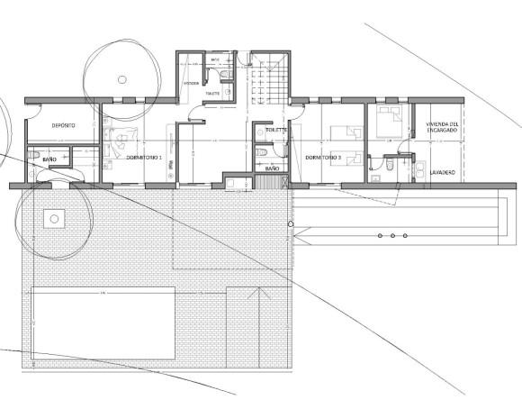 planta baja vivienda 2 vistas