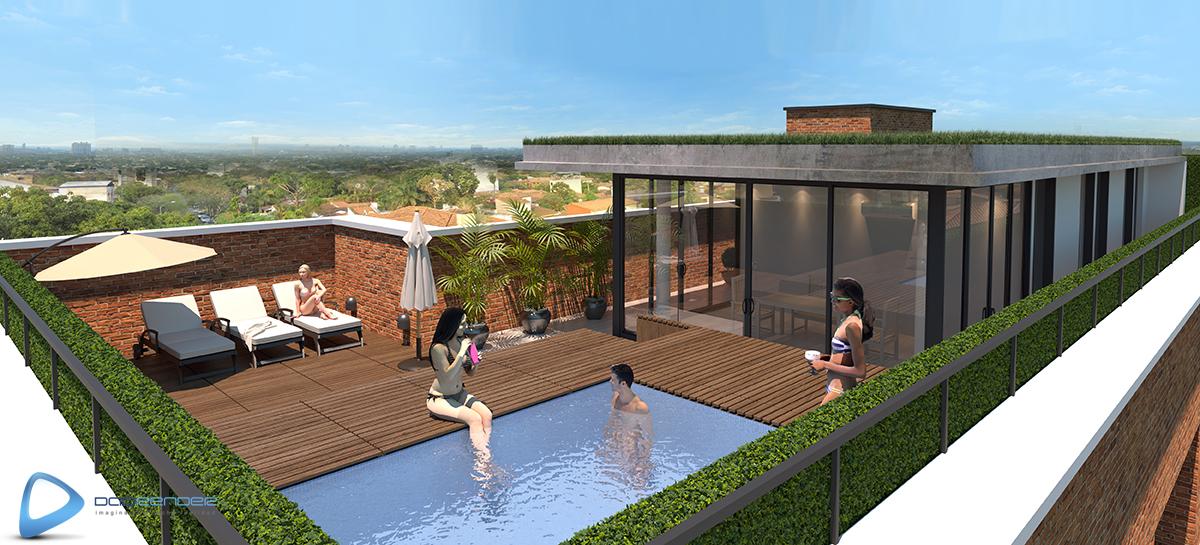 Edificio de viviendas paraguay for Construccion de piscinas en paraguay
