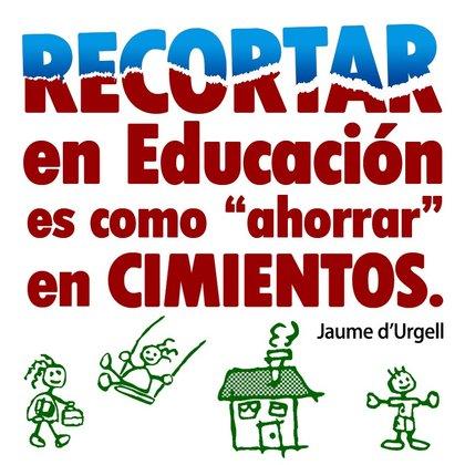 Recortar en educación_foro