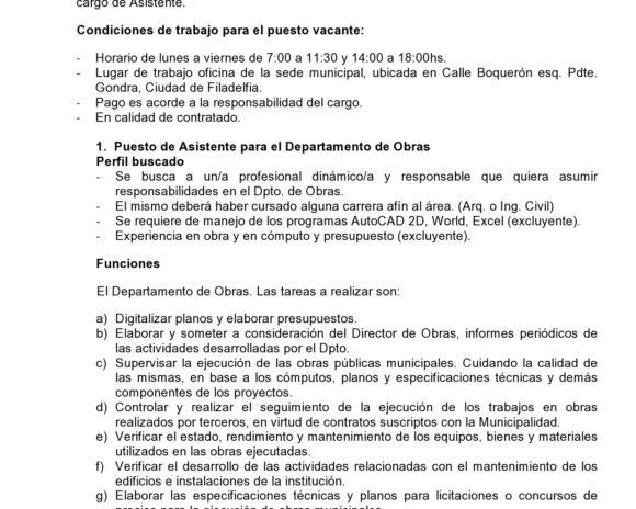 Oferta de trabajo Asistente Obras-page0001