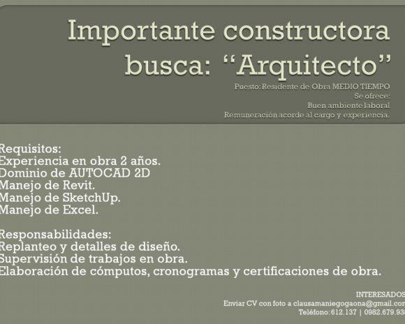 Arquitectos Medio Tiempo