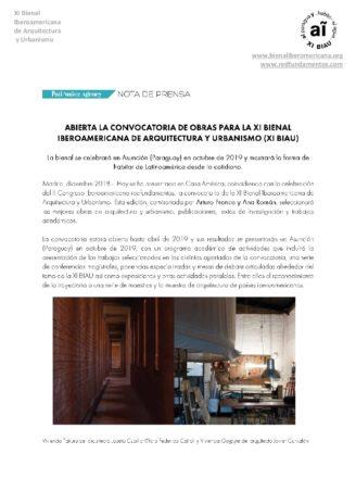 ndp_ Abre Convocatoria de obras para la XI BIAU