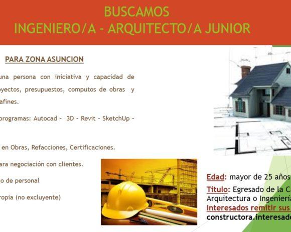 ANUNCIO BUSQUEDA ARQ. Junior